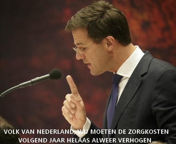 Premier Rutte legt regeringsverklaring af