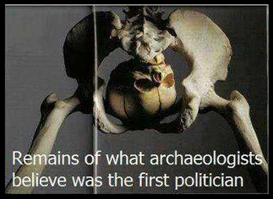 Remains of first politician