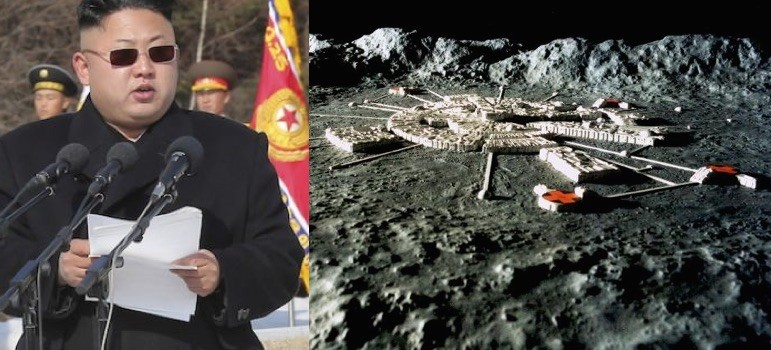 Kim Jung-Un-US bases on the moon